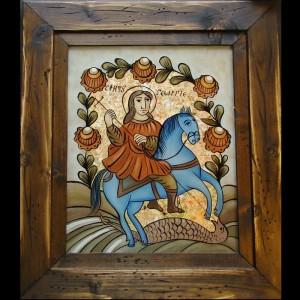 copie Sf. Gheorghe, cal albastru