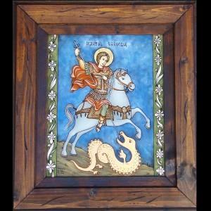 copie Sf. Gheorghe floral